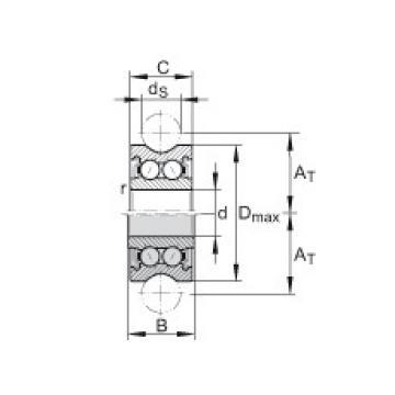 FAG بكرات الجنزير with profiled outer ring - LFR5302-10-2Z