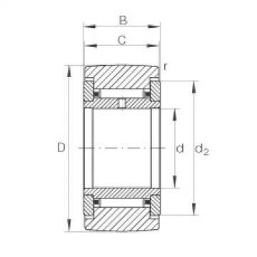 FAG نير نوع بكرات المسار - NATR17