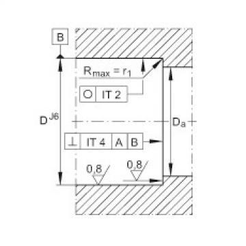 FAG محوري الزاوي الاتصال الكرات - ZKLN1747-2RS-2AP-XL