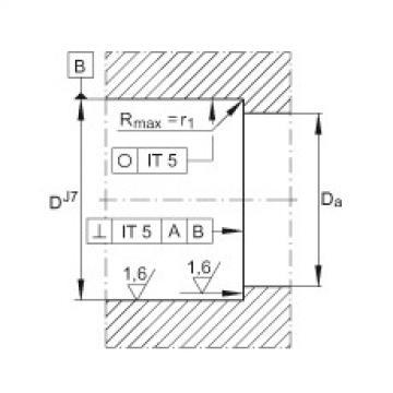 FAG محوري الزاوي الاتصال الكرات - ZKLN1747-2RS-PE