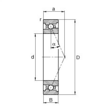 FAG محامل المغزل - HS71902-E-T-P4S