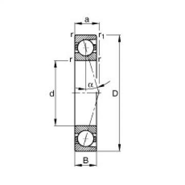 FAG محامل المغزل - B7202-C-T-P4S