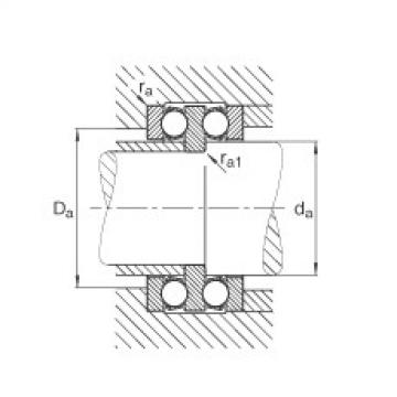 FAG محوري الأخدود العميق الكرات - 52204