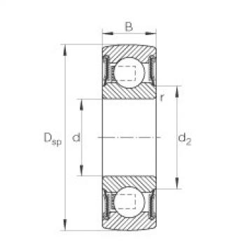 FAG Self-aligning deep groove ball bearings - 203-XL-NPP-B