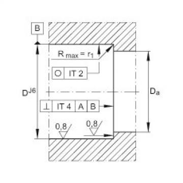 FAG محوري الزاوي الاتصال الكرات - 7602015-2RS-TVP