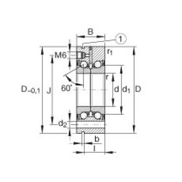 FAG محوري الزاوي الاتصال الكرات - ZKLF1762-2RS-PE