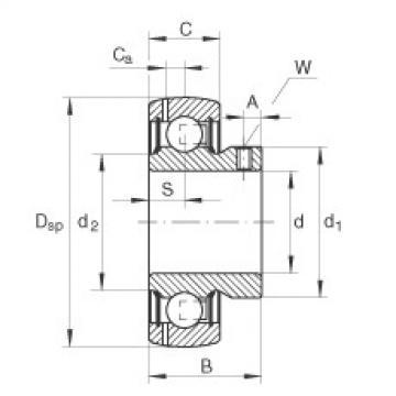 FAG شعاعي إدراج الكرات - GAY15-XL-NPP-B