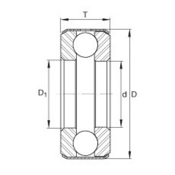 FAG محوري الأخدود العميق الكرات - B5