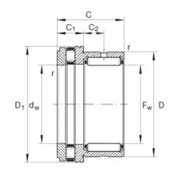 FAG إبرة بكرة / محوري أسطواني محامل - NKXR17-XL