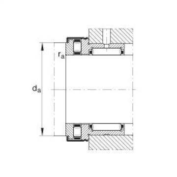 FAG إبرة بكرة / محوري أسطواني محامل - NKXR17-Z-XL