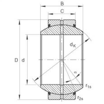 FAG Radial spherical plain bearings - GE17-FO-2RS