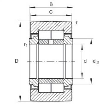 FAG نير نوع بكرات المسار - NUTR1542
