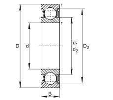 FAG الأخدود العميق الكرات - 6013-2Z