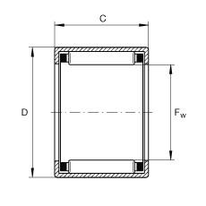 FAG تعادل كأس إبرة محامل مع نهاية مفتوحة - SCH2216