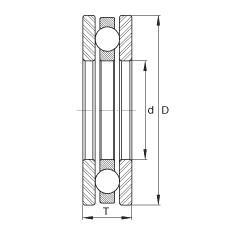 FAG محوري الأخدود العميق الكرات - DL65