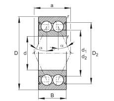 FAG الزاوي الاتصال الكرات - 3214-B-2Z-TVH