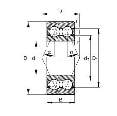 FAG الزاوي الاتصال الكرات - 3203-BD-XL