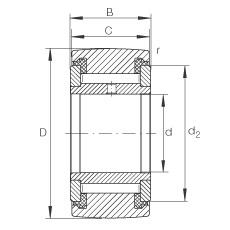 FAG نير نوع بكرات المسار - NATV15-PP