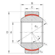 FAG Radial spherical plain bearings - GE20-FW