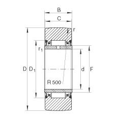 FAG نير نوع بكرات المسار - NA2204-2RSR