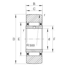 FAG نير نوع بكرات المسار - STO20