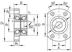 FAG Angular contact ball bearing units - ZKLFA1563-2Z
