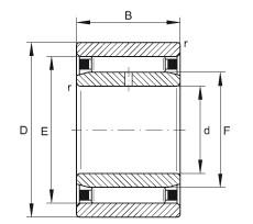 FAG محامل إبرة - NAO25X42X16-IS1-XL