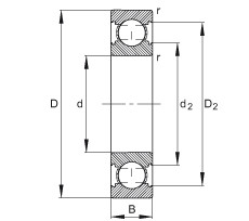FAG الأخدود العميق الكرات - 6203-C