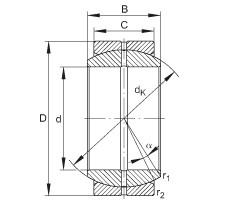 FAG Radial spherical plain bearings - GE17-DO