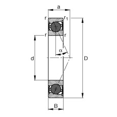FAG محامل المغزل - HCB71903-E-2RSD-T-P4S