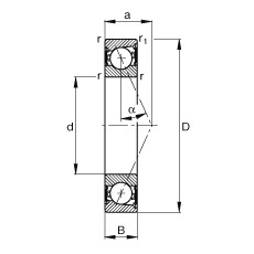 FAG محامل المغزل - B7206-E-2RSD-T-P4S