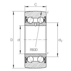 FAG بكرات الجنزير - LR5002-2RS