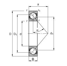 FAG الزاوي الاتصال الكرات - 7214-B-XL-JP