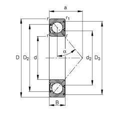 FAG الزاوي الاتصال الكرات - 7004-B-XL-2RS-TVP