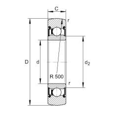 FAG بكرات الجنزير - LR207-2RS