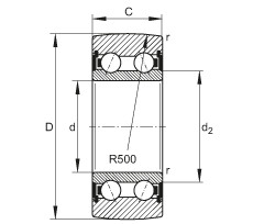 FAG بكرات الجنزير - LR5305-2HRS-TVH-XL