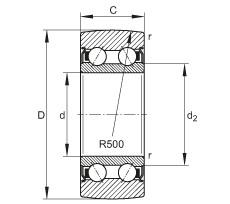 FAG بكرات الجنزير - LR5205-2Z-TVH-XL