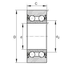 FAG بكرات الجنزير - LR5204-X-2Z-TVH-XL