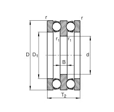 FAG محوري الأخدود العميق الكرات - 52316