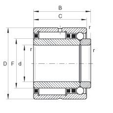 FAG إبرة الأسطوانة / الزاوي الاتصال الكرات - NKIB5909-XL