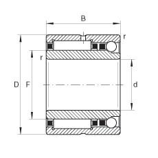 FAG إبرة الأسطوانة / الزاوي الاتصال الكرات - NKIA5914-XL