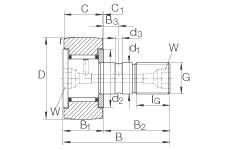 FAG مسمار نوع بكرات المسار - KR40