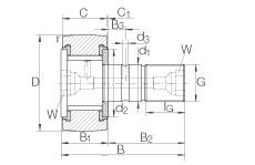 FAG مسمار نوع بكرات المسار - KRV35-PP