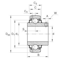 FAG شعاعي إدراج الكرات - GYE65-214-XL-KRR-B
