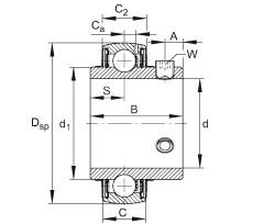 FAG شعاعي إدراج الكرات - UC207
