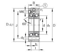 FAG محوري الزاوي الاتصال الكرات - ZKLF3080-2RS-XL