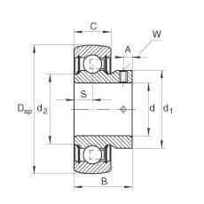 FAG شعاعي إدراج الكرات - AY15-XL-NPP-B