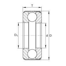 FAG محوري الأخدود العميق الكرات - D37