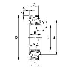 FAG تناقص الأسطوانة المحامل - KM12649-M12610