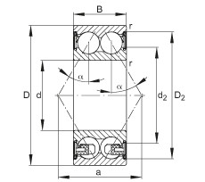 FAG الزاوي الاتصال الكرات - 3202-BD-XL-2Z-TVH